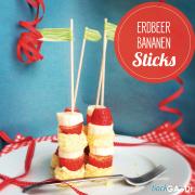 Erdbeer-Bananen-Sticks