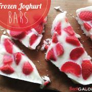 Frozen Joghurt Bars - Erdbeer